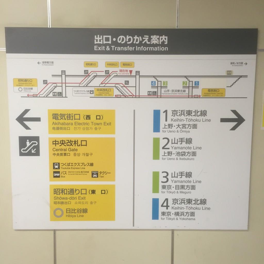 秋葉原駅乗り換え案内図