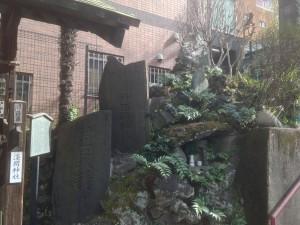 柳森神社 富士講石碑群